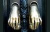 sliver hand door knockers